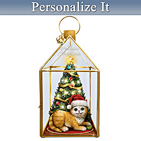 A Purrrfect Christmas Personalized Lantern