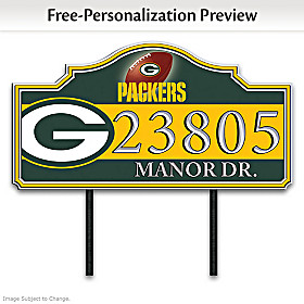 Green Bay Packers Personalized Address Sign