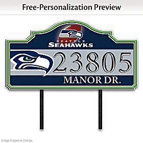 Seattle Seahawks Personalized Address Sign