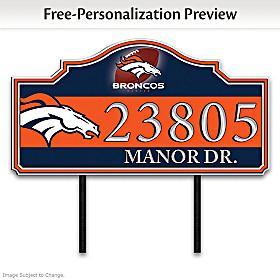 Denver Broncos Personalized Address Sign