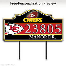 Kansas City Chiefs Personalized Address Sign