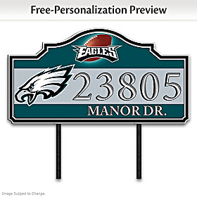 Philadelphia Eagles Personalized Address Sign
