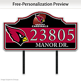 Arizona Cardinals Personalized Address Sign