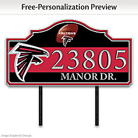 Atlanta Falcons Personalized Address Sign