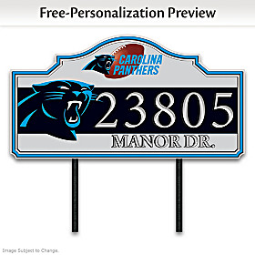 Carolina Panthers Personalized Address Sign