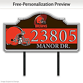 Cleveland Browns Personalized Address Sign