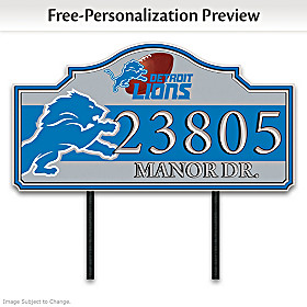 Detroit Lions Personalized Address Sign