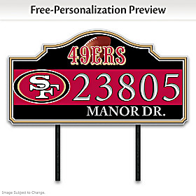 San Francisco 49ers Personalized Address Sign