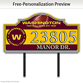 Washington Football Team Personalized Address Sign