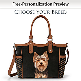 I Love My Dog Personalized Tote Bag