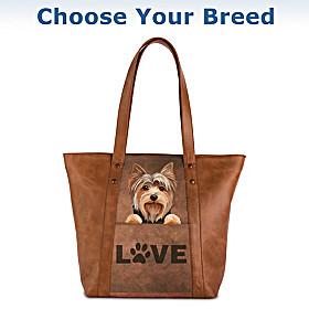 Peek-A-Boo Pup Tote Bag
