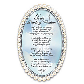 God's Pearls Of Wisdom Poem Frame