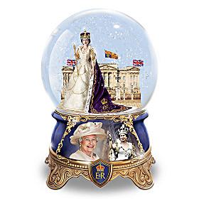Queen Elizabeth II Coronation Glitter Globe
