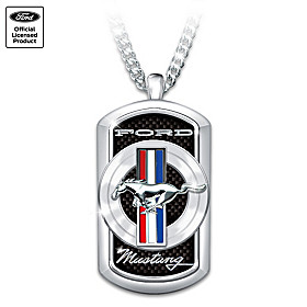 Ford Mustang Pendant Necklace