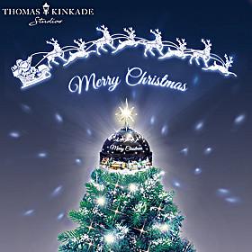 Thomas Kinkade Merry Christmas Tree Toppe