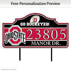 The Ohio State University Personalized Address Sign