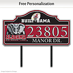 The University of Alabama Personalized Address Sign
