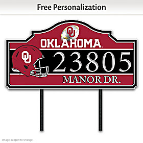 The University Of Oklahoma Personalized Address Sign