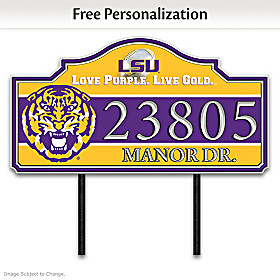 LSU Personalized Address Sign