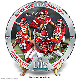 Super Bowl LIV Champions Chiefs Collector Plate
