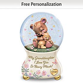 I Love You Beary Much Personalized Glitter Globe