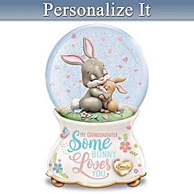 Somebunny Loves You Personalized Glitter Globe