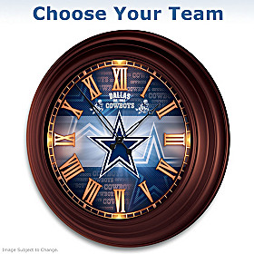 NFL Illuminated Atomic Wall Clock: Choose Your Team