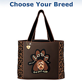 Love Is A Wet Nose Tote Bag