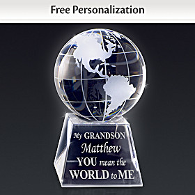 Grandson, You Mean The World To Me Personalized Sculpture