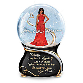 Michelle Obama: True Inspirations Glitter Globe