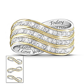 Forever Love Diamond Ring Set