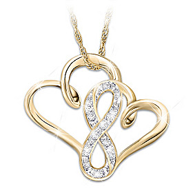 A Mother & Daughter's Forever Love Diamond Pendant Necklace