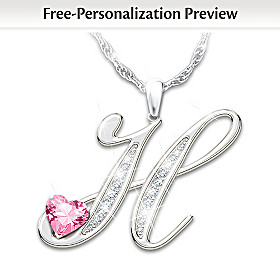 Granddaughter Of Mine Personalized Pendant Necklace
