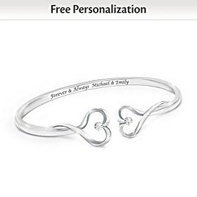 Forever & Always Personalized Diamond Bracelet