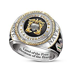 Desert Storm Navy Veteran Ring