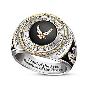 Desert Storm Air Force Veteran Ring