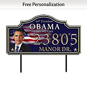 President Barack Obama Personalized Address Sign