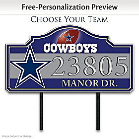 NFL Personalized Address Sign