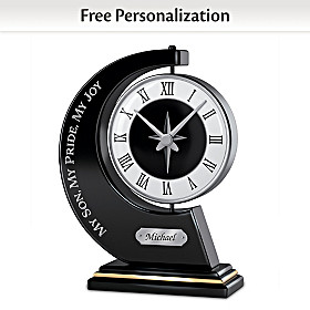 My Son, My Pride, My Joy Personalized Clock
