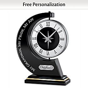 My Grandson, My Pride, My Joy Personalized Clock
