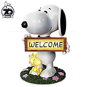 Snoopy And Woodstock Welcome Sign