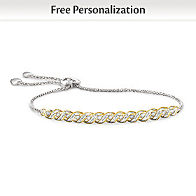 For All That You Are Personalized Daughter Diamond Bracelet