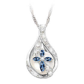 God's Loving Embrace Diamond Pendant Necklace