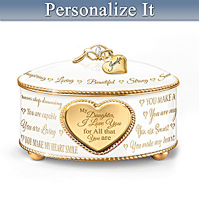 My Daughter, For All That You Are Personalized Music Box