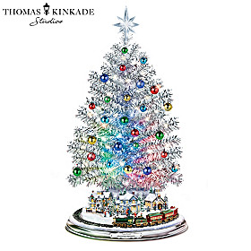 Thomas Kinkade Silver Blessings Christmas Tree