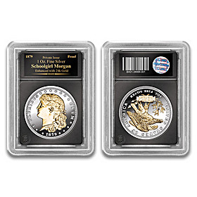 The 24K Gold Enhanced Schoolgirl Morgan Proof Coin