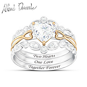 Two Hearts, One Love Ring Set