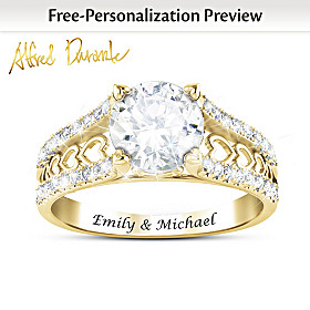 One Love Personalized Solid 1K Gold Ring