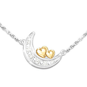I Love You To The Moon! Diamond Necklace