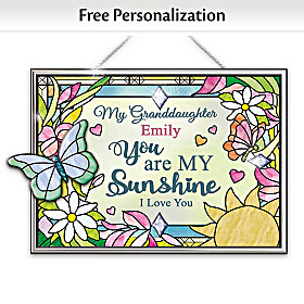 Granddaughter, You Are My Sunshine Personalized Suncatcher